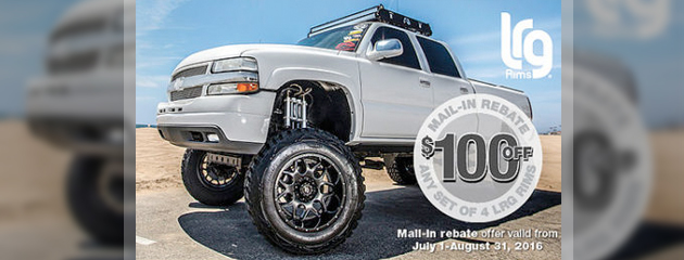 LRG Rims $100 Mail In Rebate