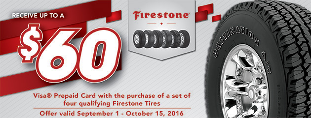 Mr. Tire and Big 3 Tire Firestone Rebate