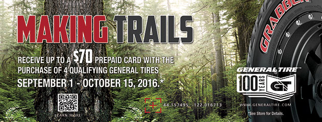 General Making Trails up to $70 Mail-in Rebate