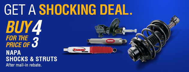 Napa Buy 4 for the Price of 3 Shocks and Struts