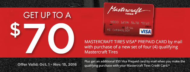 Mastercraft get up to a $70 Visa pre-paid reward card
