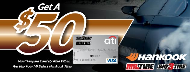 Hankook $50 Rebate Mr. Tire/Big 3