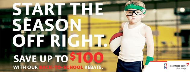 Kumho Back to School Savings up to $100