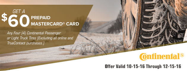 Continental $60 Winter Promotion