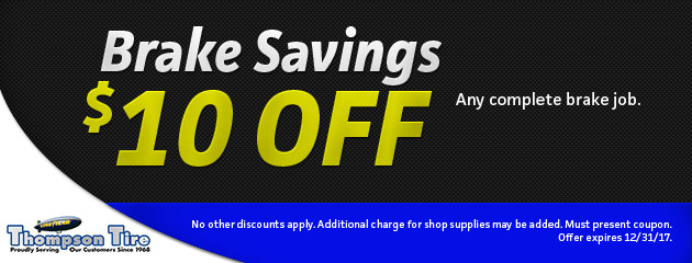 Brake Savings $10 Off