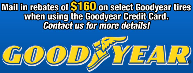 Goodyear $160 Rebate Custom