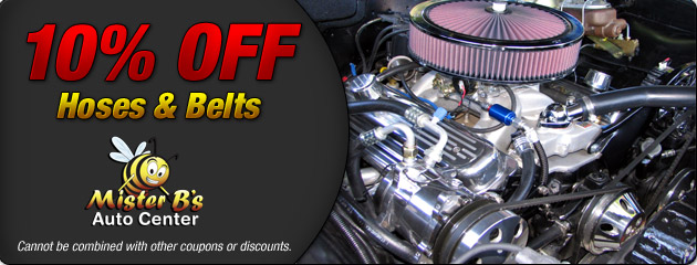 10% off Hoses and Belts