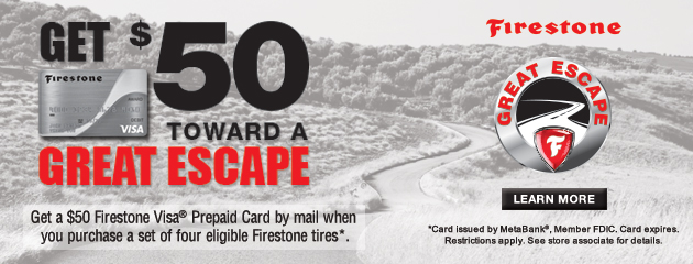 Firestone Great Escape $50 Rebate Best One