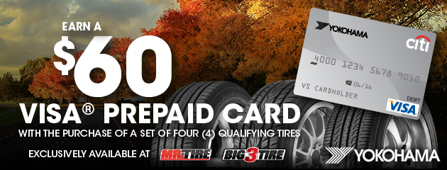 Yokohama $60 Rebate Mr. Tire/Big 3
