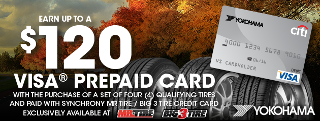 Yokohama $120 Rebate Mr. Tire/Big 3