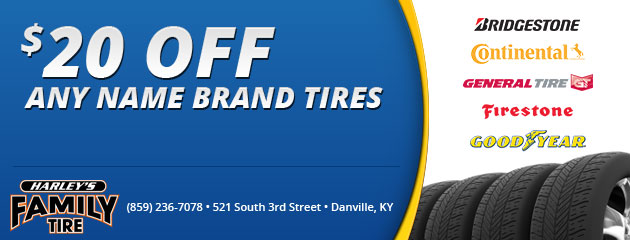 $20 Off Any Brand Name Tires