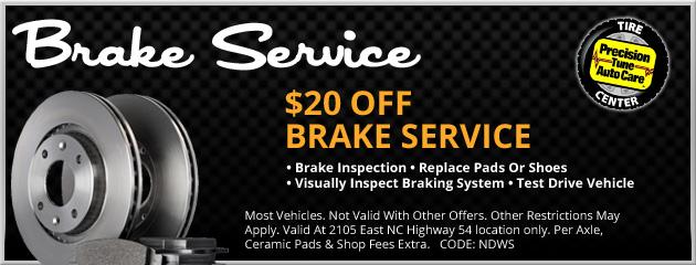 Precision tune brake service