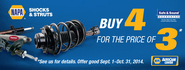Napa  Sales Driver Shocks & Struts Promotion
