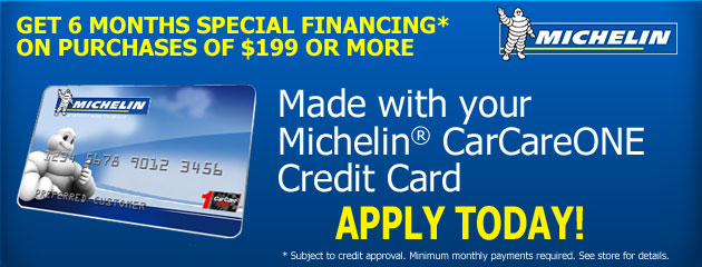 Michelin CarCareOne Financing