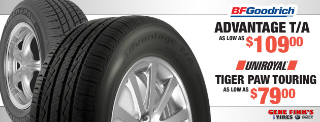 BFGoodrich Advantage T/A as low as $109