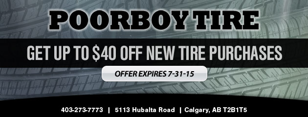 $40 Off New Tires