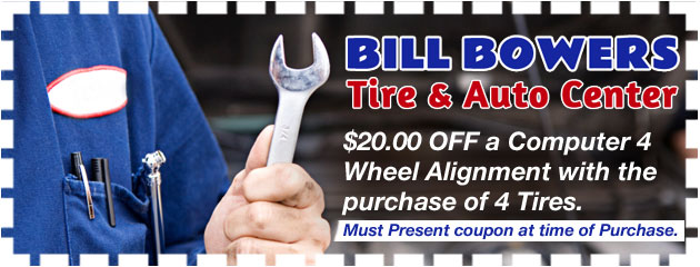 Bill Bowers Tire & Auto Computerized 4 Wheel alignment