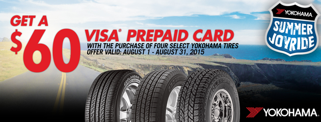 Yokohama Summer Joy Ride $60 Rebate