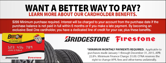 Best-One Tire Bridgestone CFNA - 2015
