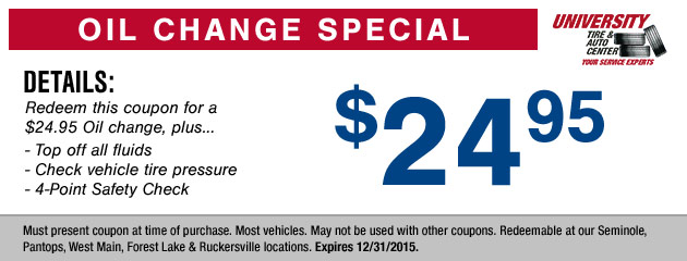 Standard Oil Change Coupon