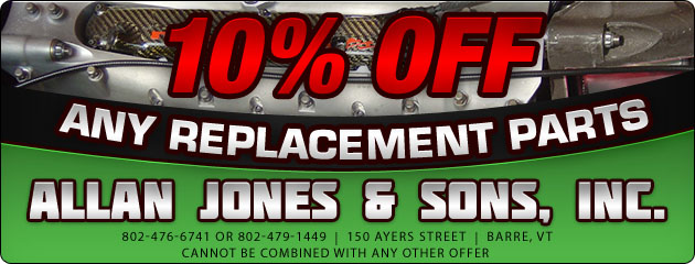 10% Off Any Replacement Parts