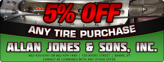 5% Off Any Tire Pruchase