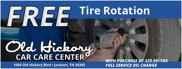 Free tire rotation with purchase of $28.00+Tax full service oil change!
