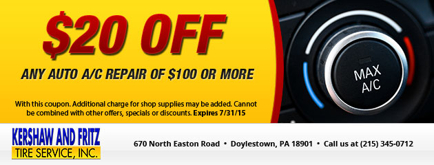 $20 off any auto a/c repair of $100 or more