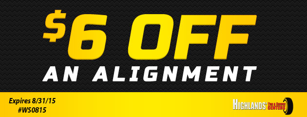 $6 Off An Alignment