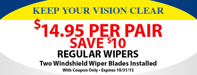 $10 Off Regular Wipers