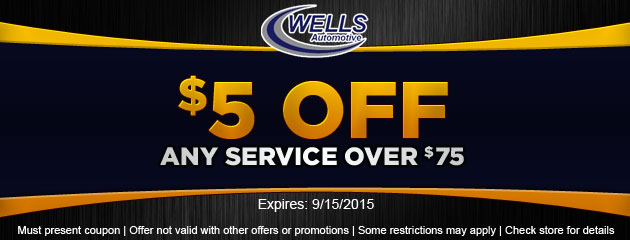 $5 OFF Any Service over $75