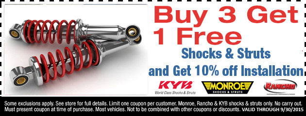 Buy two, get two free shock/strut special