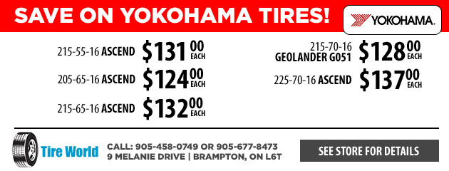 Save on Yokohama Tires! 16""