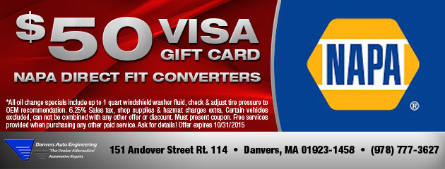 $50 Of Visa Gift Card Napa  Direct Fit Converters