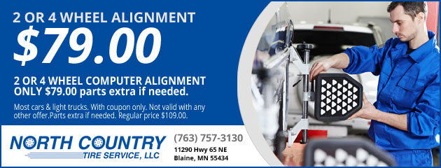 2 OR 4 WHEEL ALIGNMENT $69.00
