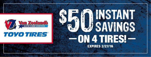 $50 Instant Savings on 4 Tires