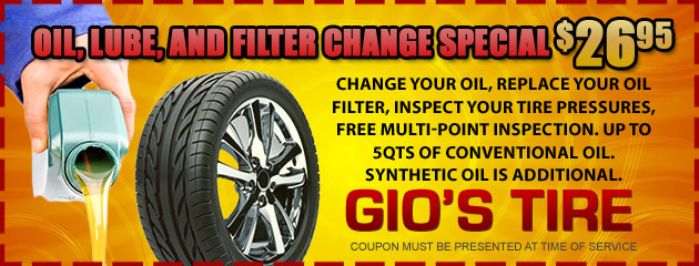 Oil, lube, and filter change special