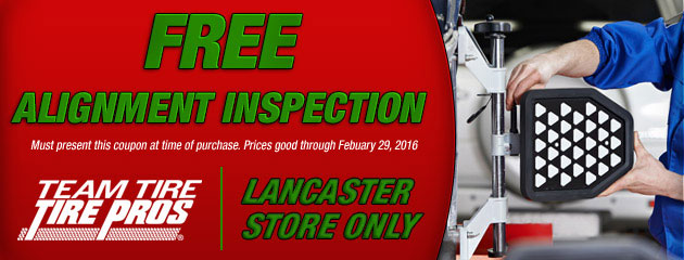 Free Alignment Inspection - Lancaster