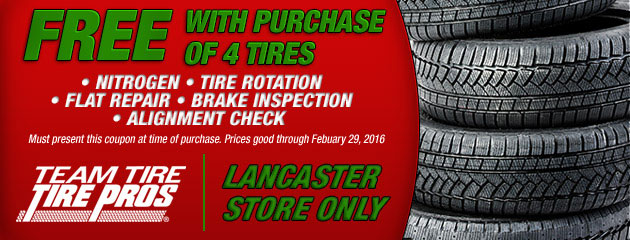 Free With Purchase Of 4 Tires - Lancaster