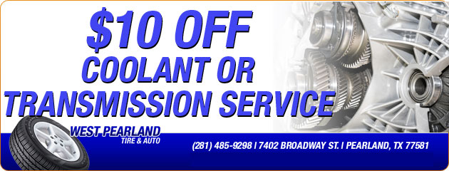 $10 Off Coolant or Transmission Service