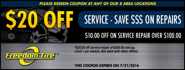 $20 Off Service