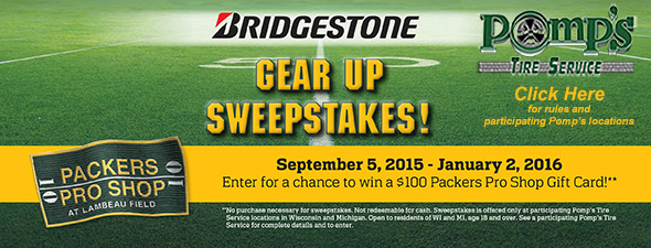 Gear Up Sweepstakes 2015-2016 NFL Season