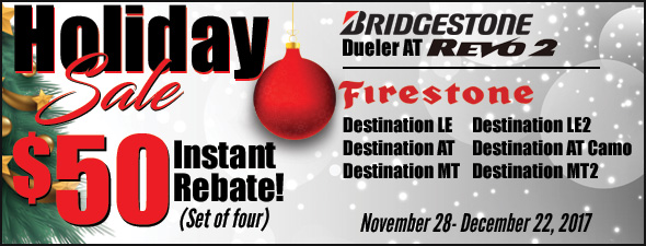 Bridgestone Holiday Sale