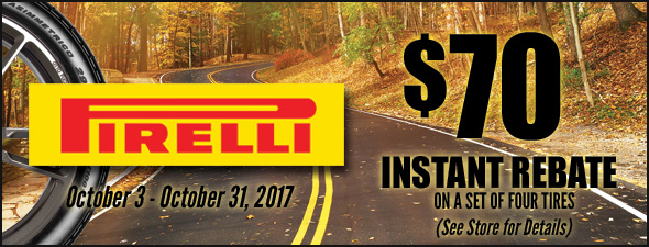 Pomp's Pirelli Instant Rebate Offer