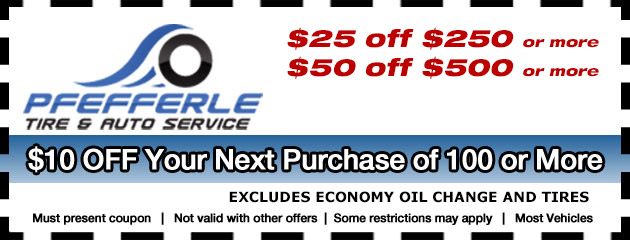 Save Big at Pfefferle Specials