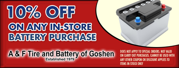 10% Off Any In Store Battery Purchase