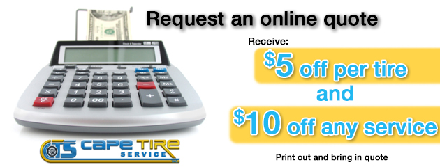 Request An Online Quote - Cape Tire Service