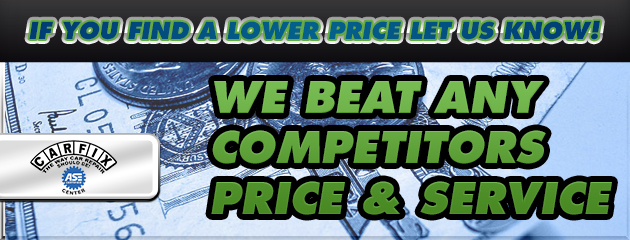 WE BEAT ANY COMPETITORS PRICE & SERVICE!