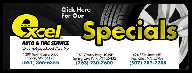 Excel Auto & Tire Service Savings