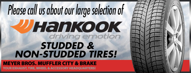 Hankook studded and non-studded tires!